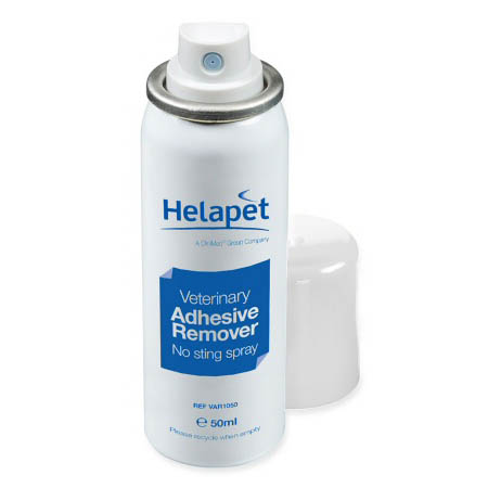 Helapet adhesive remover